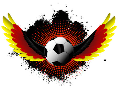 Germany soccer wings Vector