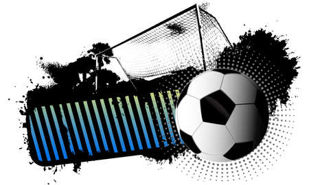 Soccer banner grunge