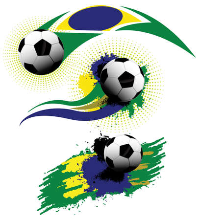Soccer ball brazil Illustration