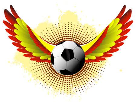 스페인 축구의 날개 일러스트