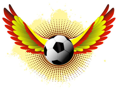Spain soccer wings Vector