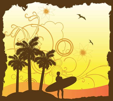 Surfen ontwerp Stock Illustratie