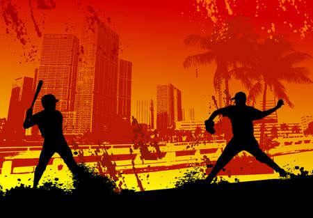 city background: Urban baseball