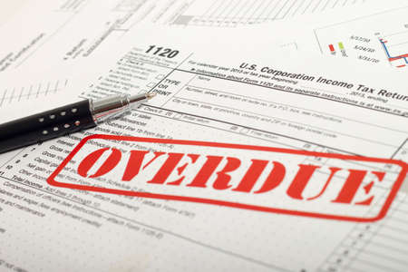 Close up U.S. taxes papers Archivio Fotografico