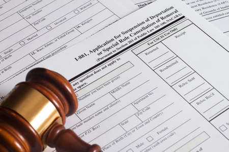 rule: Application Suspension of Deportation or special rule cancellation of removal Stock Photo