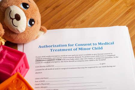 Medical Consent Treatment, Authorization of minor child