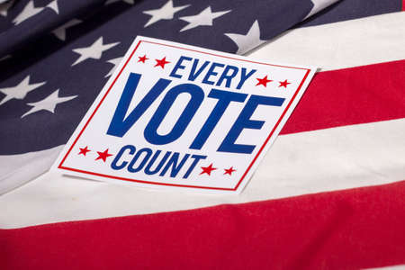 electing: Every Vote Count Stock Photo