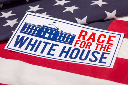 the white house: Race for the White House Stock Photo