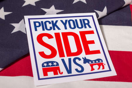 presidential election: Pick Your Side Stock Photo