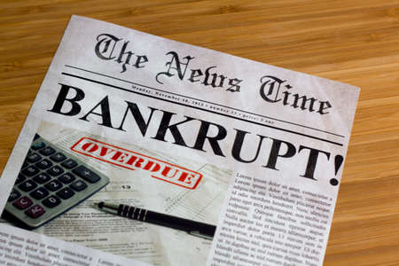 Bankruptcy on the news paper