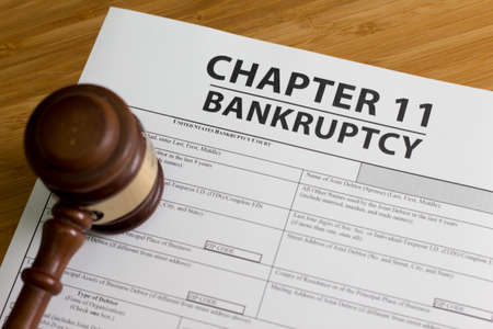 Documents for filing bankruptcy Chapter 11 写真素材