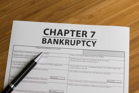 Documenten voor het indienen van een faillissement Hoofdstuk 7