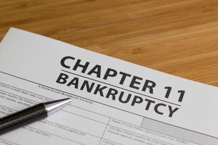 Documenten voor het indienen van een faillissement hoofdstuk 11
