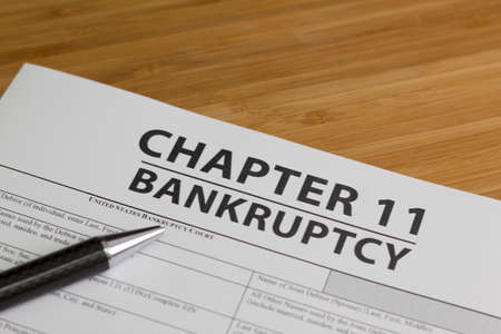 Documents for filing bankruptcy Chapter 11 Archivio Fotografico