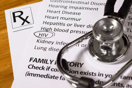 Health Evaluation Form with HIV check