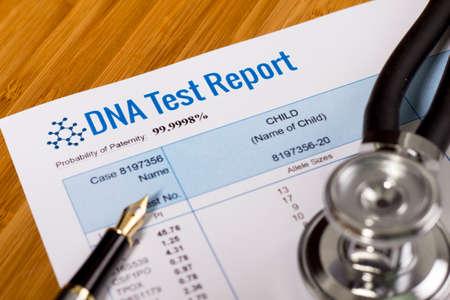 DNA-test rapport van het vaderschap