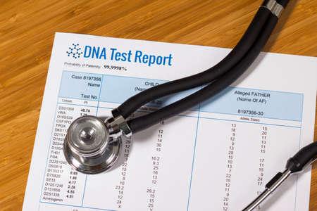 DNA test report of paternity 版權商用圖片