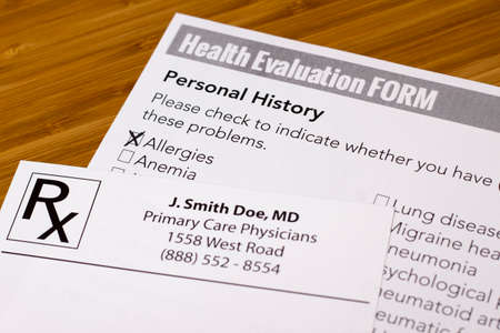 Health Evaluation Form with allergies check