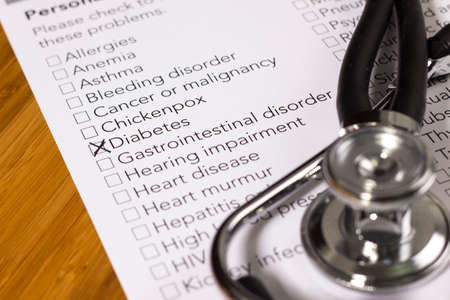 Health Evaluation Form with diabetes check