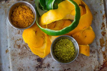 Citrus peels, orange, lemon and grapefruit for vitamin c and exfoliation 写真素材 - 115032295