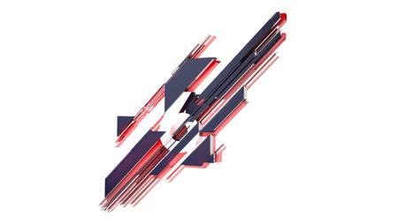 diagonal  square: Object Number 3D Motion Graphics Design Diagonal Square Modern