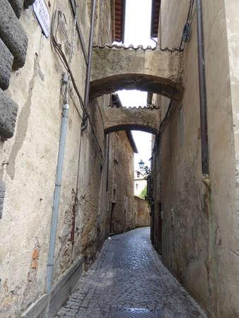 etrurian: Corridor in Orvieto, Umbria, Italy