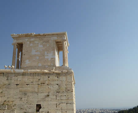 Victorioso Templo de Atenea, la Acrópolis, Atenas, Grecia