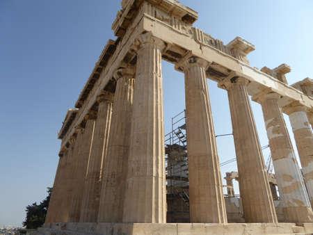 architrave: Parthenon in Acropolis, Athens, Greece Stock Photo