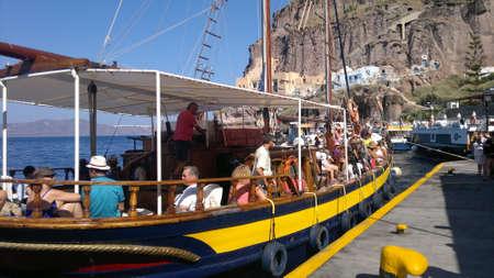 old port: The Old Port on Santorini