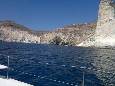 santorini greece: White Beach, White Beach Santorini Greece