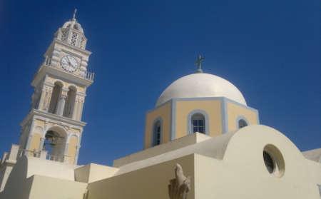 santorini greece: Church in Santorini, Greece Stock Photo