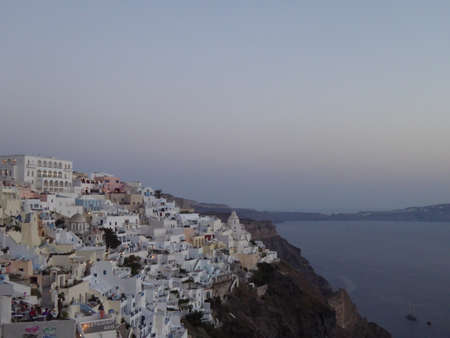 santorini greece: Fira in Santorini, Greece