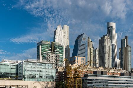 Daytime view of the buildings in the financial district in Puerto Madero, Buenos Aires