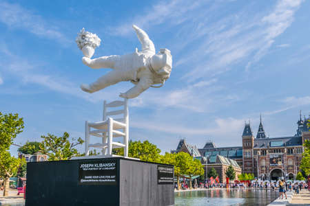 Amsterdam, Netherlands - July 19, 2018: Artwork From Joseph Klibansky At The Museum Square At Amsterdam The Netherlands 2018. High quality photo
