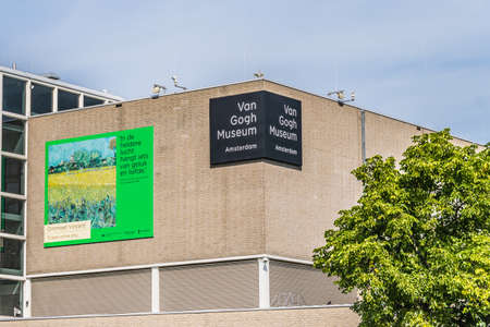 Amsterdam, Netherlands - July 18, 2019: Van Gogh Museum in Amsterdam. High quality photo