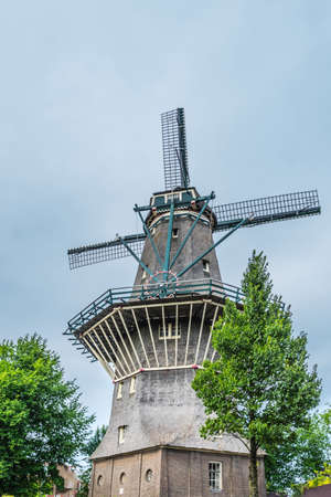 The De Gooyer Mill is located on the edge of the historic center, Amsterdam