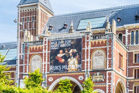 Amsterdam, Netherlands - July 18, 2019: The Rijksmuseum museum located at the Museum Square in the borough Amsterdam. 新聞圖片