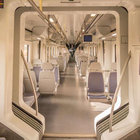 Interior of an empty train