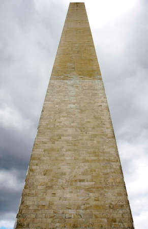 monolith: The Washington Monument, seen from a dramatic low angle viewpoint. Editorial