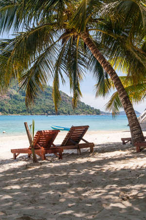 Beach and seascape at Perhentian Island in eastern Malaysia