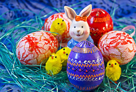 Easter eggs and bunny Stock Photo - 9237824