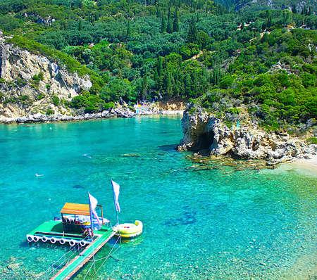 Sea bay. Paleokastritsa, Corfu island, Greece. photo