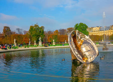 The Tuileries Garden of the Louvre Museum on October 23, 2012 in Paris  The former royal palace and the world s most visited museum