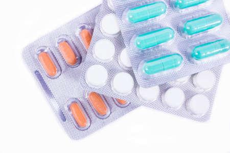 pilule: Pillole diverse con sfondo isolato