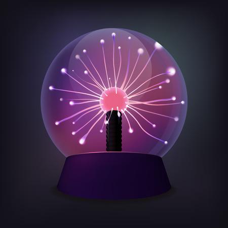 Plasma ball with luminous flames