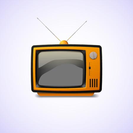 Old television. Illustration of vintage realistic TV.