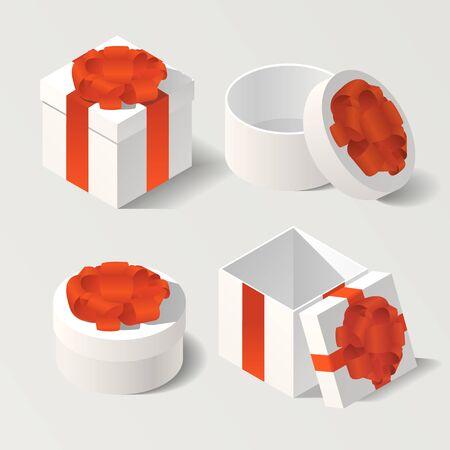 3d isométrique coffrets cadeaux illustration vectorielle Banque d'images - 80490005