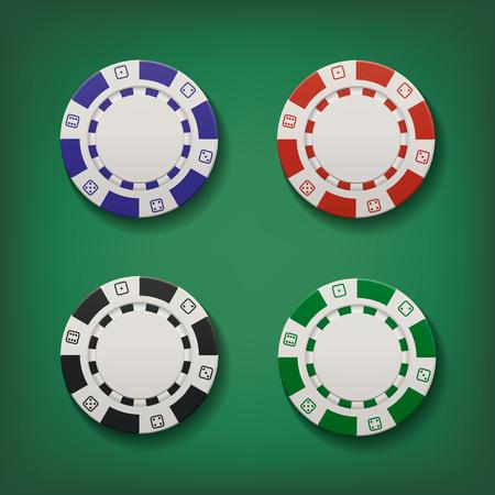 Jetons de casino. Illustration vectorielle Banque d'images - 87709355