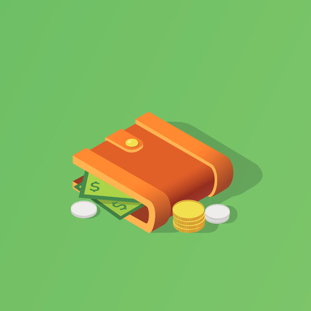 Wallet isometric icon isolated. Created For Mobile, Web, Print Products, Applications. Vector illustration Banque d'images - 99017888