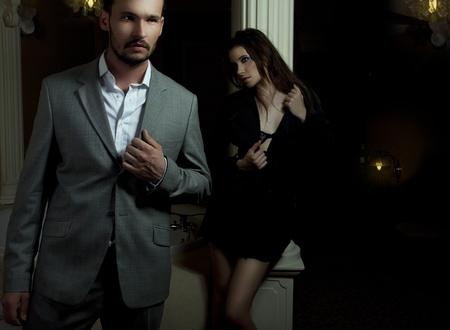 Portrait of romantic couple